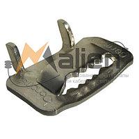 Замок фиксатор (скрепа) с зубьями для ленты монтажной НС-20-Т (нерж. сталь С304) МАЛИЕН