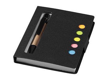 Набор стикеров Reveal с ручкой и блокнотом А7, черный