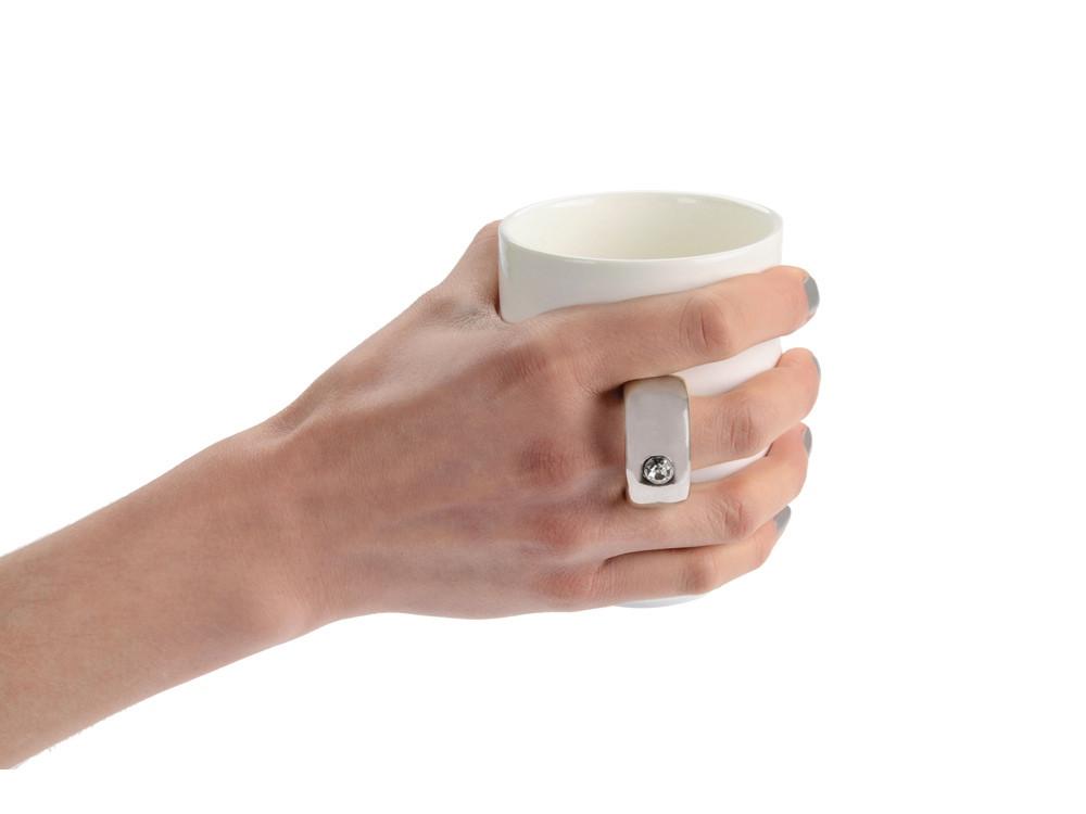 Кружка на 300 мл с ручкой в виде кольца - фото 3