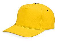 Бейсболка New York 5-ти панельная с металлической застежкой и фурнитурой, желтый