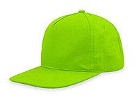 Бейсболка 5-ти панельная с прямым козырьком, зеленое яблоко