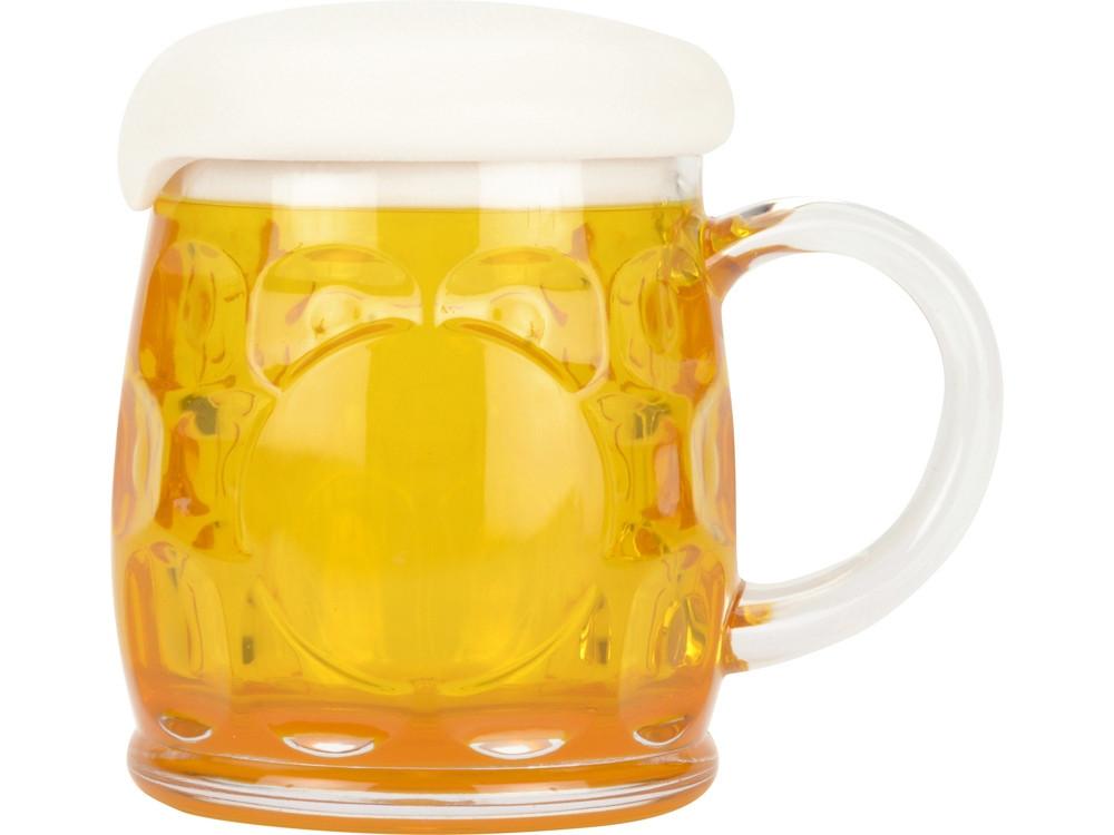 Кружка для пива с крышкой в виде пены - фото 3