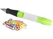 Королевская шариковая ручка со светодиодами и скрепками, зеленый, фото 2