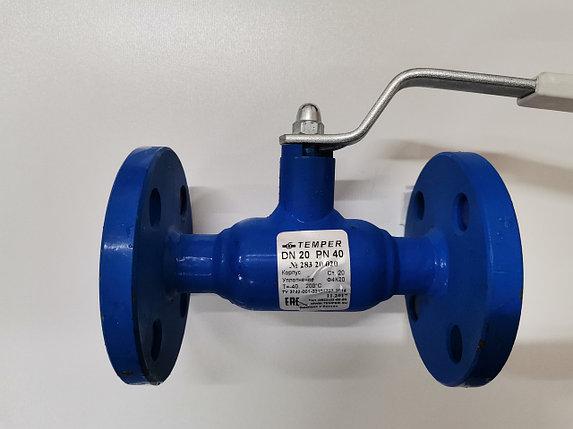 Кран шаровый Temper стальной фланцевый для Газа и воды Ду20 Ру40 (Пр-во Россия), фото 2