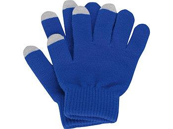 Перчатки для сенсорного экрана, синий, размер S/M