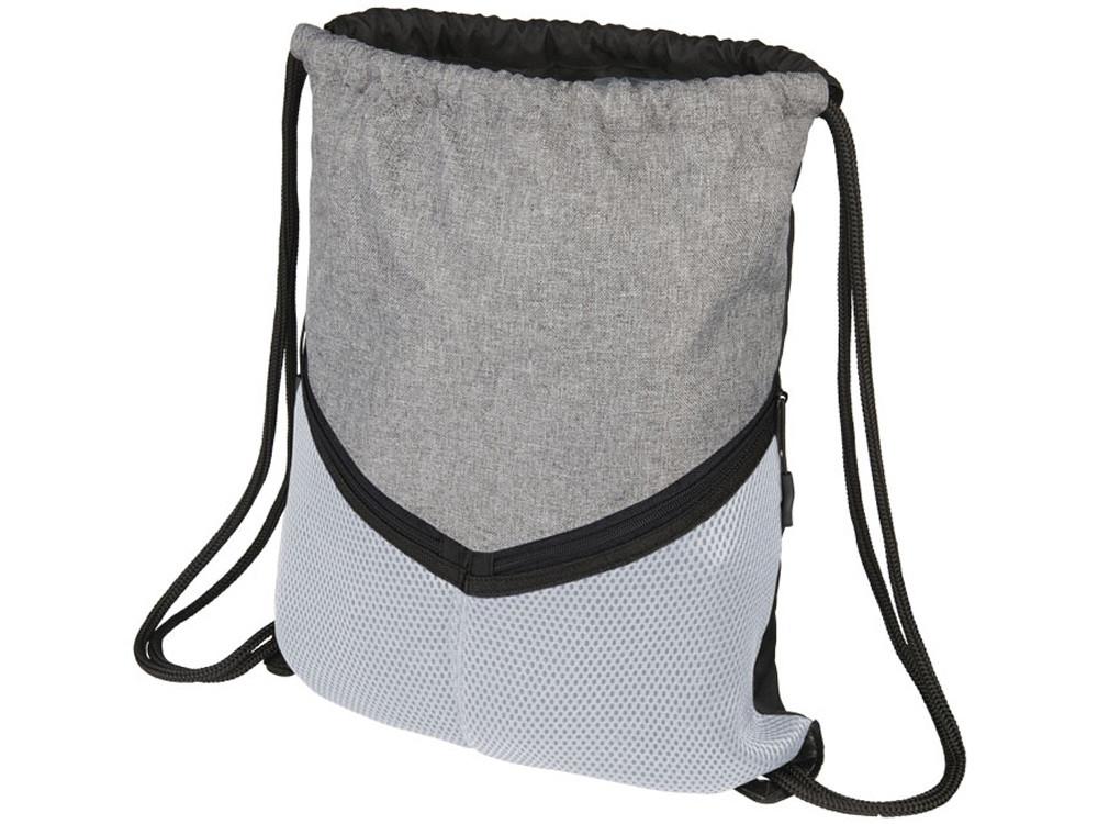 Спортивный рюкзак-мешок, серый/белый