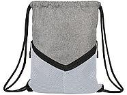 Спортивный рюкзак-мешок, серый/белый, фото 2