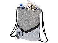 Спортивный рюкзак-мешок, серый/белый, фото 3