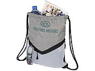 Спортивный рюкзак-мешок, серый/белый, фото 4
