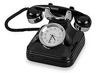 Часы Ретро-телефон, черный