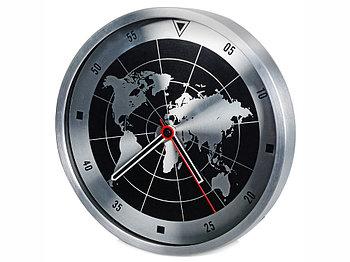 Часы настенные Весь мир, серебристый/черный
