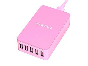 Зарядное устройство Orico CSE-5U (розовый)