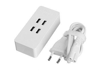 Зарядное устройство Orico DCV-4U (белый)4*USB2,4А/5Вмах4А; 20Вт; Smart Technologyпластик