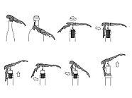Нож сомелье из нержавеющей стали Pulltap's Inox, серебристый, фото 4