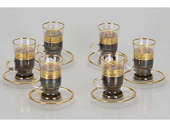 Чайный набор Важное совещание, черный/золотистый