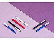 Ручка шариковая Pigra модель P03 PRM софт-тач, красный/белый, фото 4