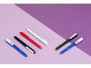 Ручка шариковая Pigra модель P03 PRM софт-тач, синий/белый, фото 4