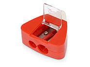 Точилка с ластиком Easy duo, красный, фото 2