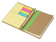 Набор стикеров Write and stick с ручкой и блокнотом, зеленое яблоко, фото 2