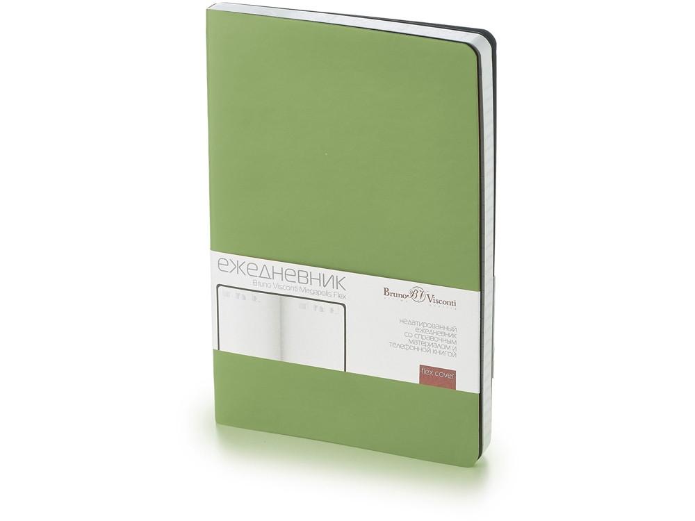 Ежедневник А5 недатированный Megapolis Flex, зеленый