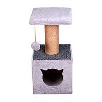 Когтеточка - лежанка домик ворсовый квадратный 7 Котиков