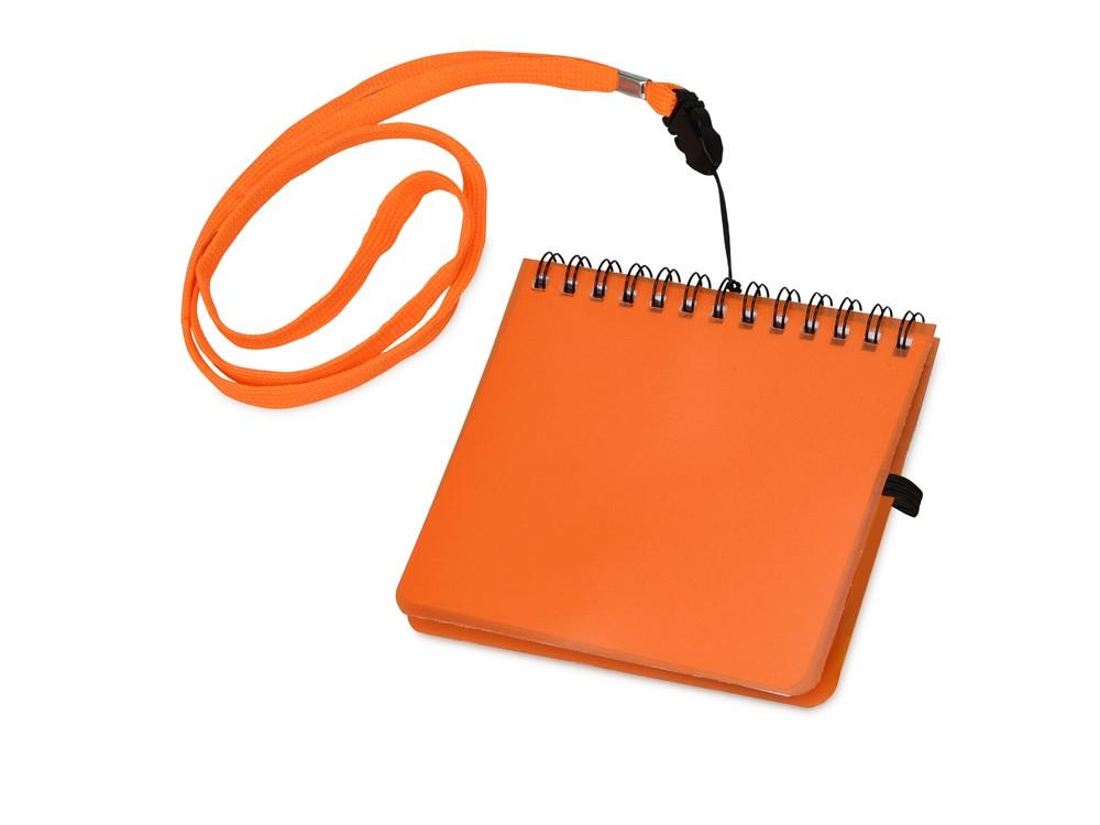 Блокнот А6 Журналист, оранжевый