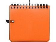 Блокнот А6 Журналист, оранжевый, фото 4