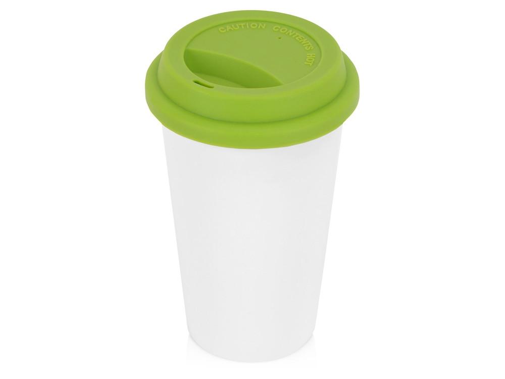 Кружка с силиконовой крышкой Нью-Йорк 300мл, зеленый