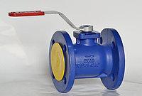 Кран чугунный шаровой Zetkama V565 V565-100 Ду 100 Ру 16