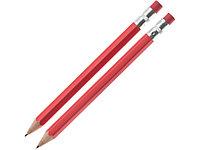 Набор Даллас: ручка шариковая, карандаш с ластиком в футляре, красный