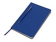 Блокнот А5 Magnet 14,3*21 с магнитным держателем для ручки, синий, фото 2