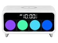 Часы с беспроводным зарядным устройством Rombica Timebox 1, белый, фото 2