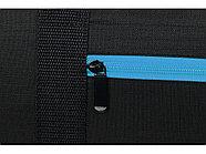 Сумка спортивная Master с цветными молниями, неоново-голубой, фото 6