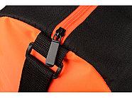 Сумка спортивная Master с цветными молниями, неоново-оранжевый, фото 5