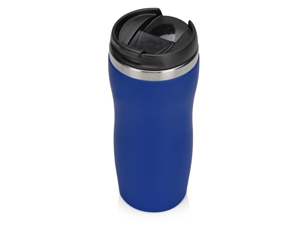 Термокружка Mony Steel 350 мл, soft touch, синий