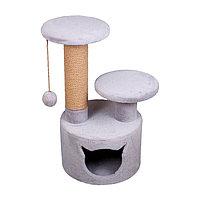 Когтеточка - лежанка домик с 2 лежанками круглый 7 Котиков