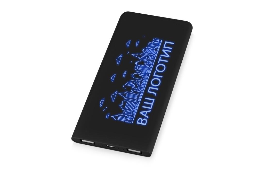 Портативное зарядное устройство с подсветкой логотипа Faros, soft-touch, 4000 mAh