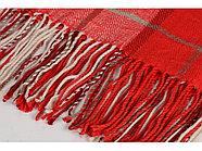 Плед акриловый в клетку Tartan, красный, фото 2