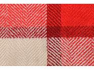 Плед акриловый в клетку Tartan, красный, фото 4