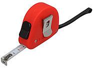 Рулетка 3м Meter, софт-тач, красный, фото 2