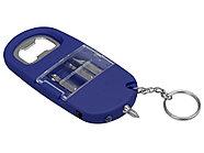Брелок-открывалка с отвертками и фонариком Uni, софт-тач, синий, фото 3
