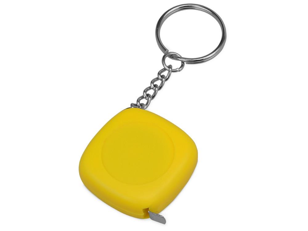 Брелок-рулетка 1м Block, желтый