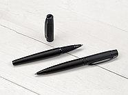 Ручка металлическая шариковая Uma VIP GUM soft-touch с зеркальной гравировкой, черный, фото 2