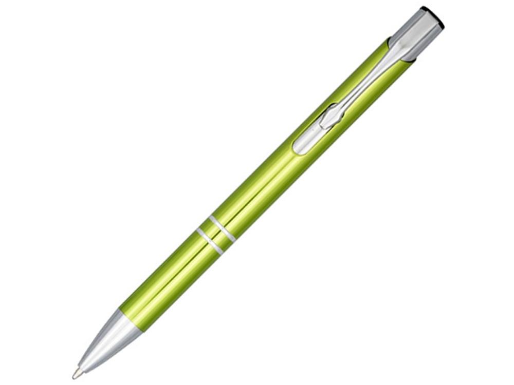 Кнопочная шариковая ручка Moneta из анодированного алюминия, синие чернила, лайм