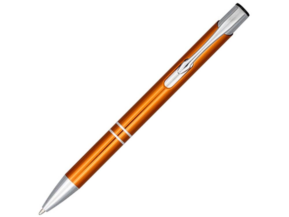 Кнопочная шариковая ручка Moneta из анодированного алюминия, синие чернила, оранжевый