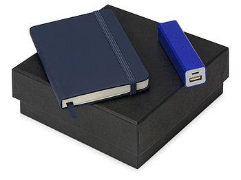 Подарочный набор To go с блокнотом и зарядным устройством, синий