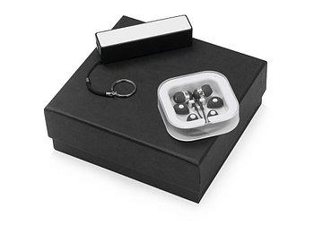 Подарочный набор Non-stop music с наушниками и зарядным устройством, черный