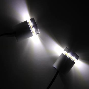 Дистанционный держатель  алюминиевый с подсветкой 25×25 белый (2шт)