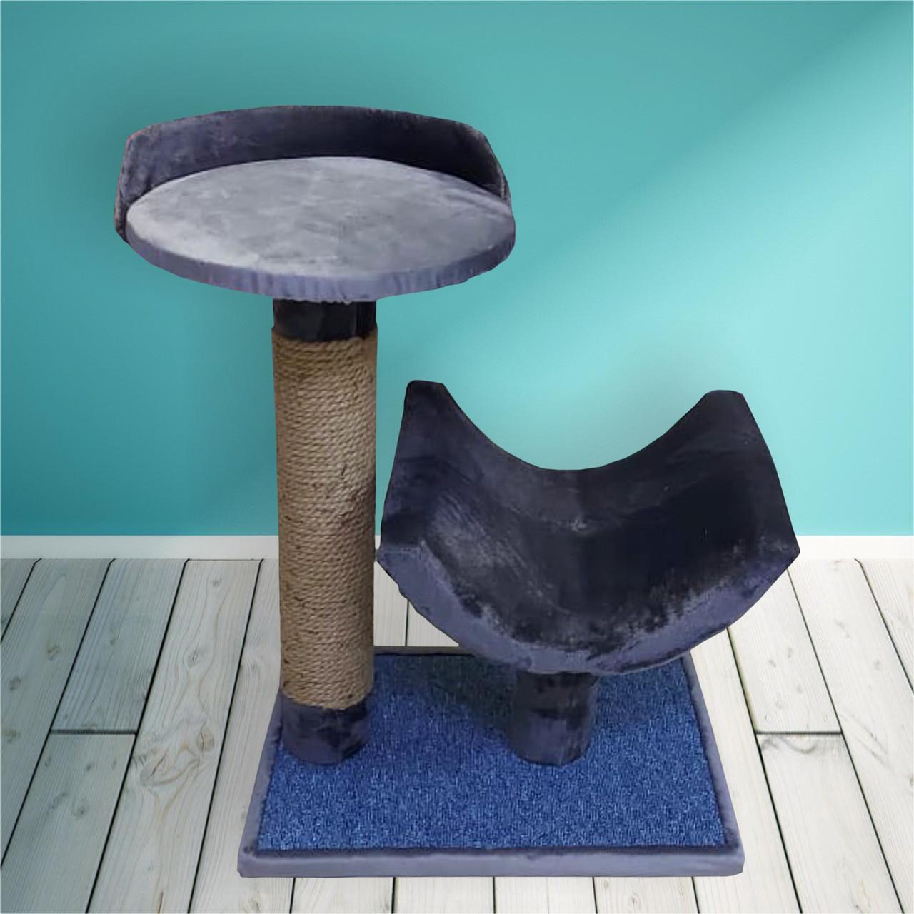 Когтеточка-столбик с лежаками для кошек