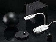 Настольный светильник с беспроводной зарядкой Flamp, белый, фото 10